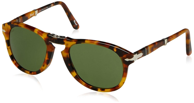 Persol 0Po0714 10524E 52, Gafas de Sol Unisex-Adulto, Marrón (Madreperla/Green)
