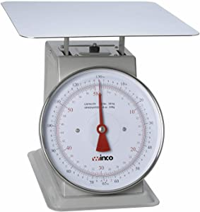 Winco 130-Pound/59.09kg Scale with 9-Inch Dial