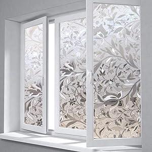 CHDHALTD Window Privacy Film 3D DIY Self-Adhesive Window Glass Film Vinyl Window Film Privacy Protection Decor,Window Transparent Privacy Film