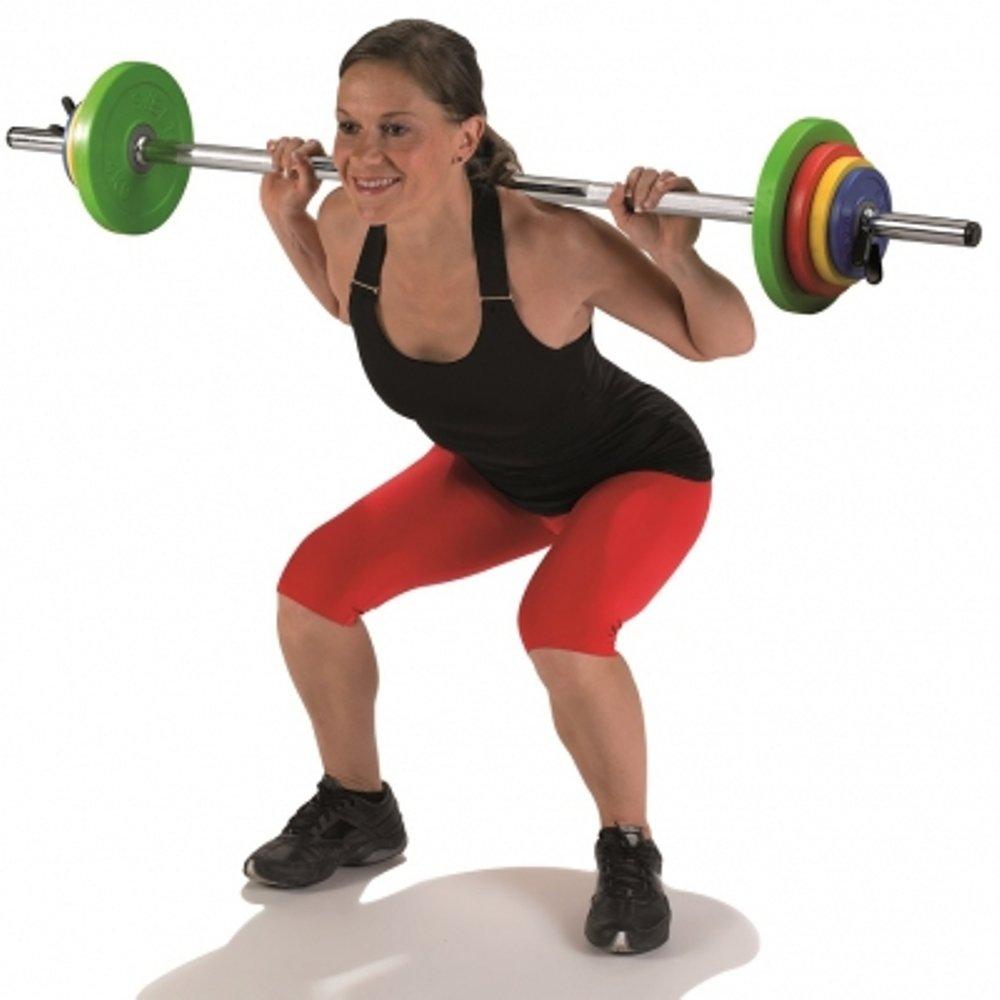 SVELTUS Training/Fitness Gym Workout Equipment Gewicht Lifting Stahl Bar & Teller