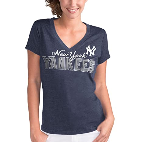 Amazon.com   New York Yankees Women s Navy Home Run V-Neck T-shirt X ... 5fe52a0acf0