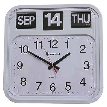 Amazon.com: NRS Healthcare - Reloj de pared con calendario ...
