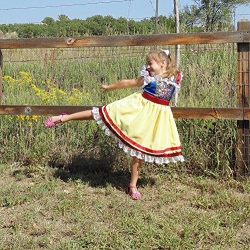 Girls 5-6 Snow White Princess apron by Fru Fru and Feathers Costumes & Gifts