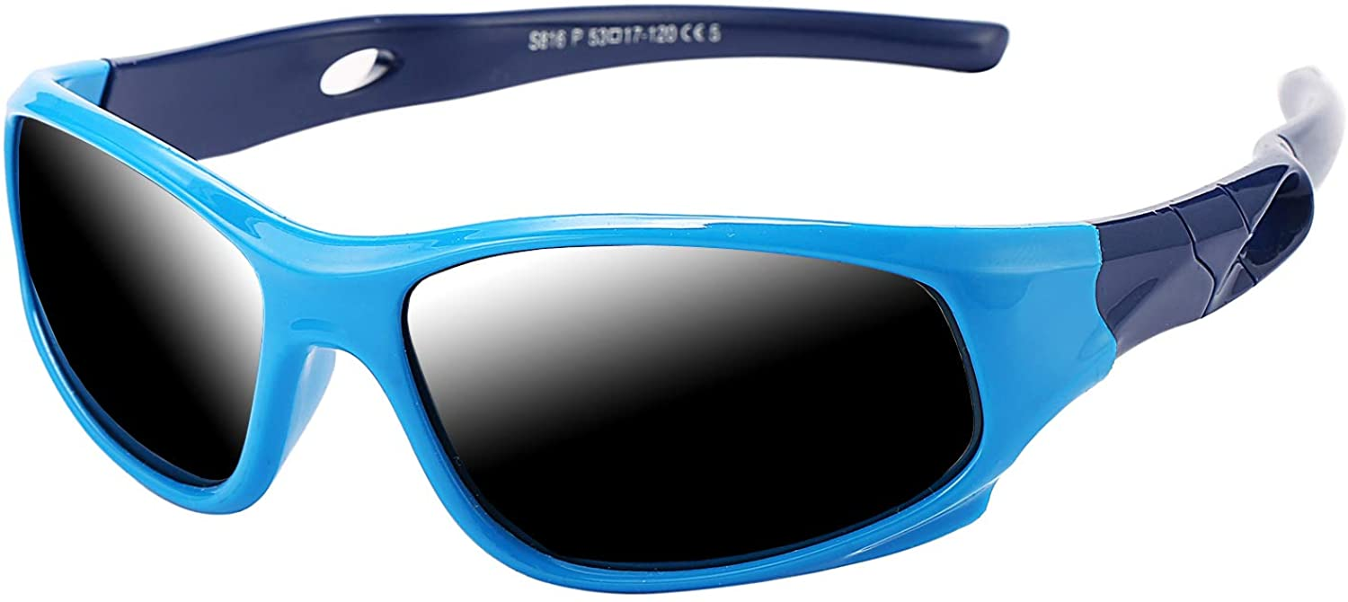 Pro Acme TR90 Unbreakable Polarized Sports Sunglasses for Kids Boys and Girls