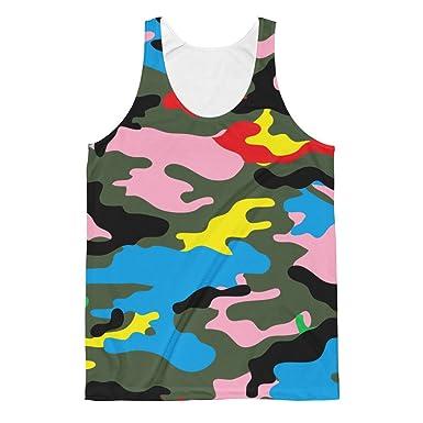 adb22c216fe rainbow camouflage Unisex Classic Fit Tank Top shirt at Amazon Men s ...