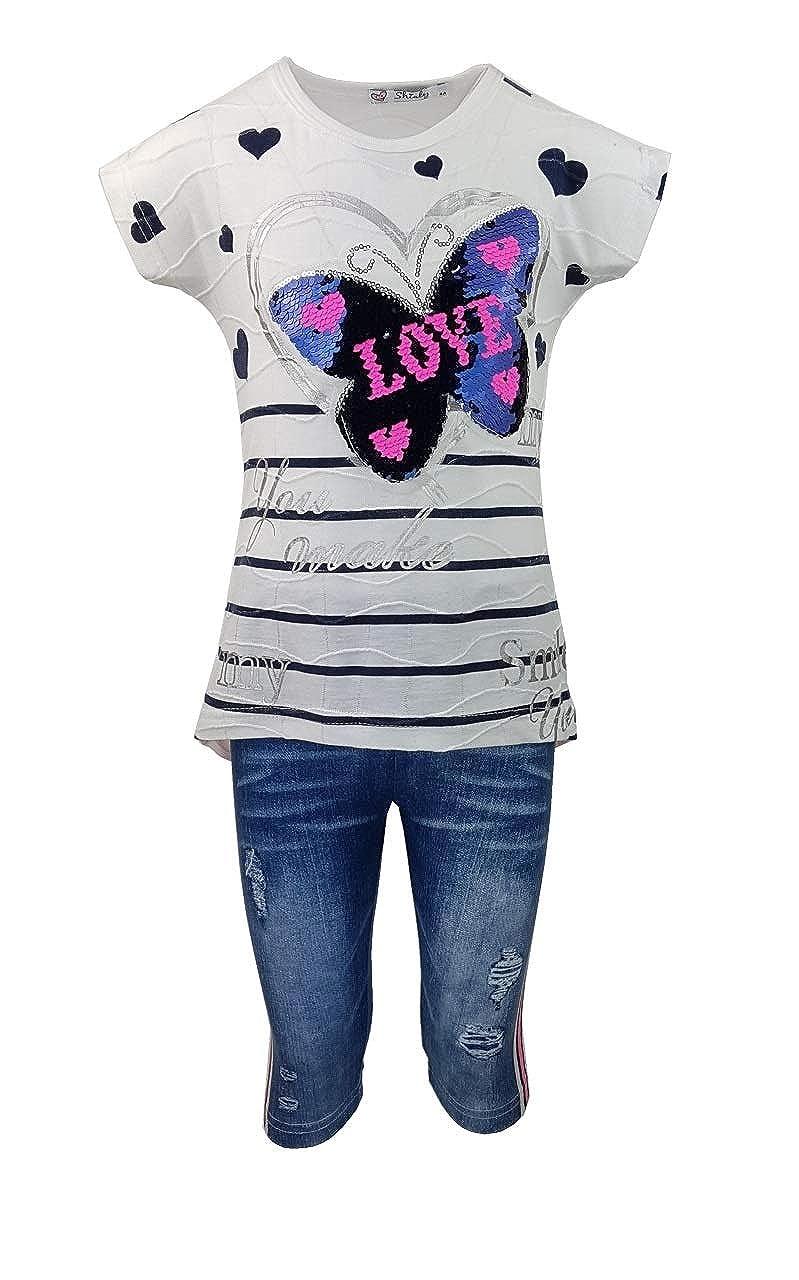 Capri Hose MSn166e M/ädchen Sommerset T-Shirt