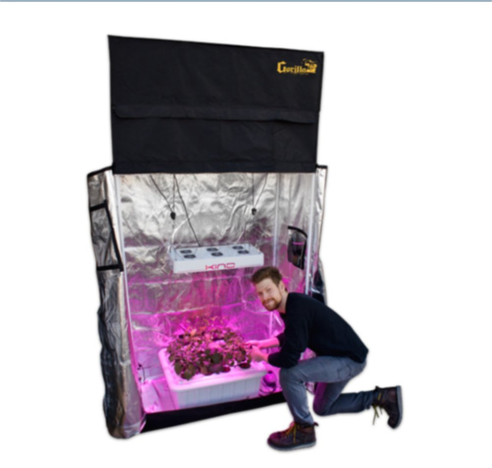 Amazon.com  Complete Turnkey Indoor Garden Grow Room Kit with 2u0027 x 4u0027 Gorilla Grow Tent Kind LED Grow Light and SuperCloset SuperPonic 16 Hydroponic ...  sc 1 st  Amazon.com & Amazon.com : Complete Turnkey Indoor Garden Grow Room Kit with 2 ...