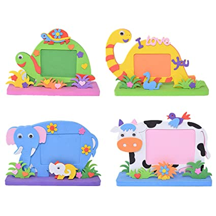 Amazon Com Simplelif Eva Cartoon Photo Frame For Kids Diy
