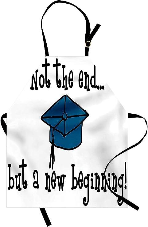 Soefipok Delantal de graduación, no Termina Pero Comienza la Frase ...