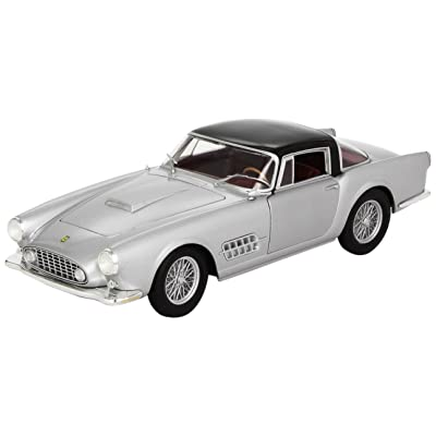 Hot wheels T6243 Ferrari 410 Superamerica Silver 1/18 Diecast Car Model by Hotwheels: Toys & Games