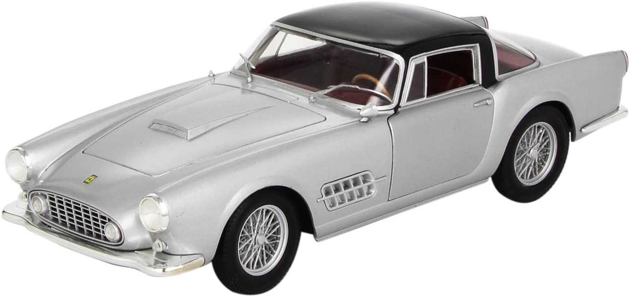 HOT WHEELS 1:18 FERRARI 410 SUPERAMERICA DIE-CAST SILVER T6243