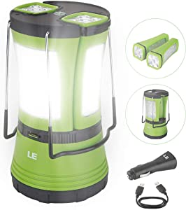 3. Lighting EVER Rechargeable Camping Lantern (600lm)