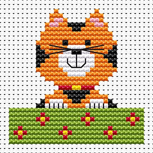 Sew Simple Cat Cross Stitch Kit by Fat Cat Cross Stitch