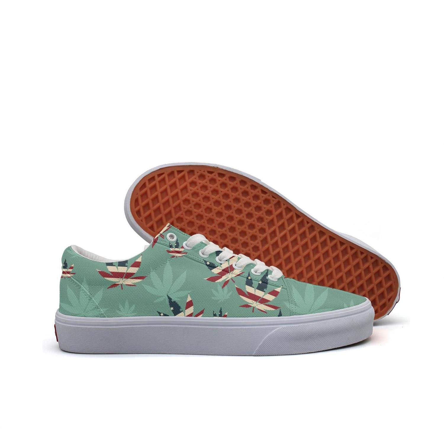 Sernfinjdr Casual lace-up Canvas Shoes for Women Cannabis Addiction Stone Trendy Cycling Sneaker Shoes