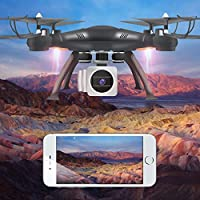 Ounice Drone with HD Camera, Wifi FPV RTF 2.4G 4CH RC Quadcopter Gimbal Camera Drone with 6-Axis Gyro 2.4G 4CH Real-time Images Return