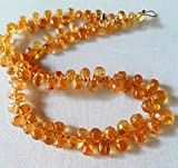 Natural Yellow SAPPHIRE faceted drops shape briolettes , 2x4 mm to 4x7 mm Approx ,7.5''strand