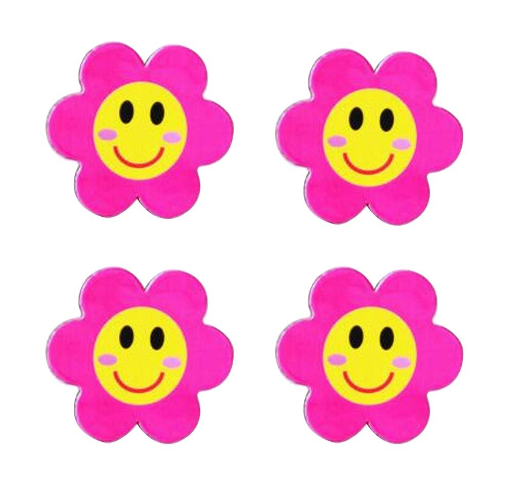 20 Pieces Office Whiteboard Magnets Fridge Magnets Educational Toy, Pink Flower