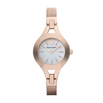 9a1636fe Emporio Armani AR7329 Ladies Pearl and Rose Gold Chiara Watch
