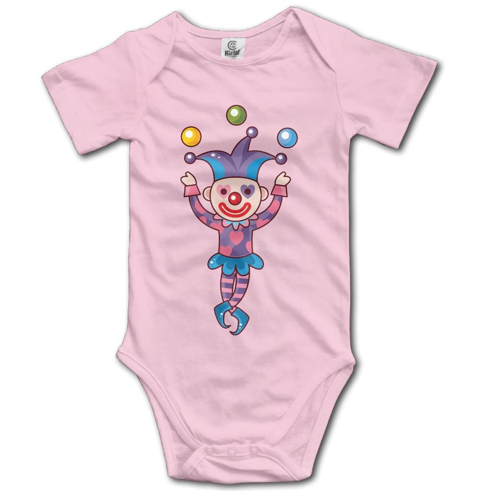 Jaylon Baby Climbing Clothes Romper Funny Clown Infant Playsuit Bodysuit Creeper Onesies Pink