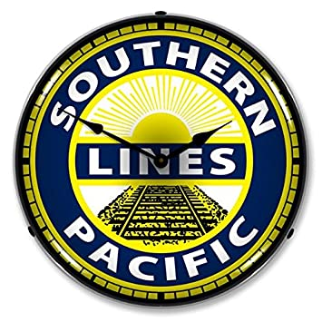 Southern Pacific Railroad Lighted Wall Clock