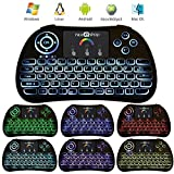 Mini Keyboard Touchpad niceEshop(TM) I86 2.4 G Mini Wireless Keyboard with Mouse Touchpad Combo Rechargable Battery for Pc/Pad Xbox 360 / PS3 / Google Android TV Box / HTPC / IPTV, Linux, Mac OS, 7 Colors Backlit