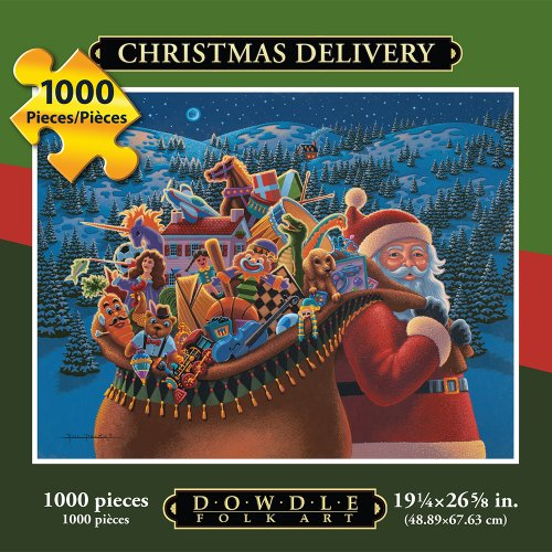 Jigsaw Puzzle - Christmas Delivery 1000 Pc By Dowdle Folk Art -