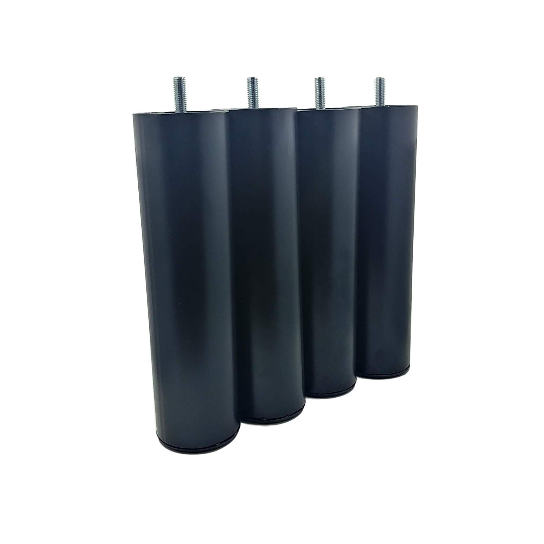 Legs for Ergomotion Adjustable Bed Bases (Sold in sets of 4) Pick size and Type! Black Powder Coated 9'' Legs