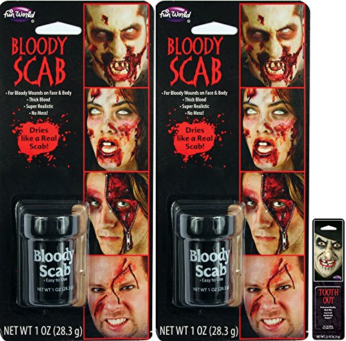 Potomac Banks Bloody Scab Makeup Thick Blood (Pack of 2) with Free Pack of Makeup]()