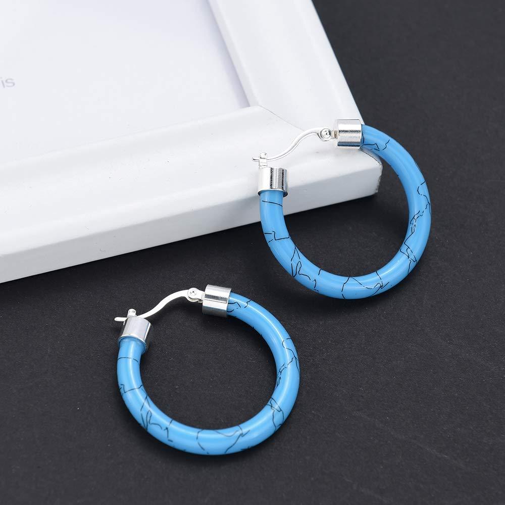 DiSha Acrylic Hoop Earrings Resin Mottled Earrings Jewelry Accessor for Women and Girls