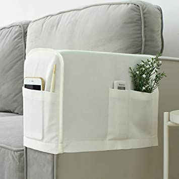 Joywell Armrest Covers Anti Slip Sofa Arm Protector For Living Room Armchair Slipcover For Armrest Recliner With 4 Pockets For Tv Remote Phone Set