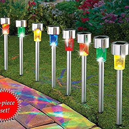 Amazon sogrand solar lights outdoor pathway decorative sogrand solar lights outdoor pathway decorative waterproof garden stake light 4 color led decorations lamp stainless workwithnaturefo