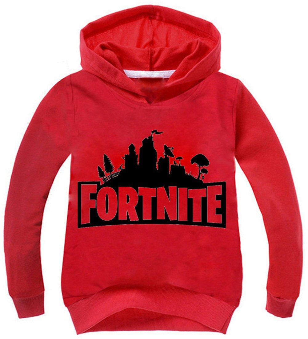 EMILYLE Fortnite Kids Hoodie Novelty Boys Girls Unisex Sweatshirt Pullover 10287041011