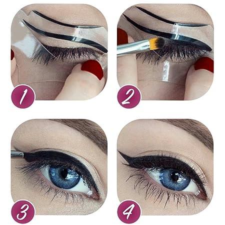 EQLEF® Four-in-One Girls Eyebrow Makeup Tools Eyeliner Guide ...