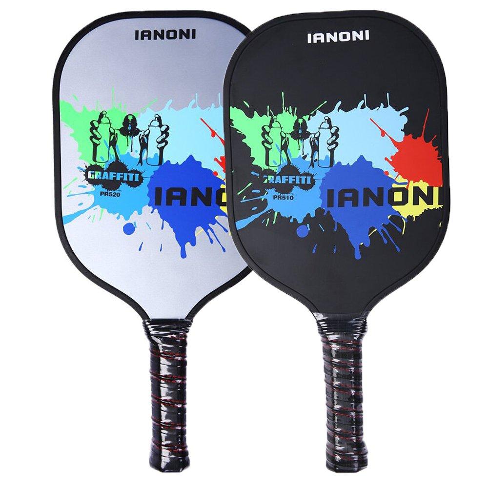 Ianoni Pickleball raqueta, 2pcs Pickle bola Paddle Raquet grafito cara cartucho PP en forma de panal: Amazon.es: Deportes y aire libre