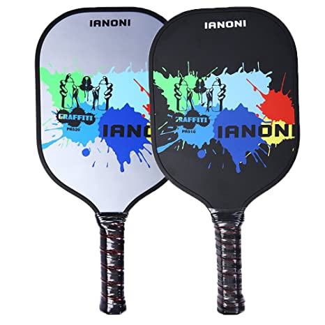 Ianoni Pickleball raqueta, 2pcs Pickle bola Paddle Raquet grafito ...