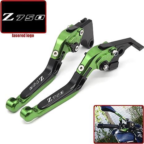 2009 2010 non per il modello Z750S 2011 e 2012 Leva freno e frizione CNC pieghevole e estendibile per moto Kawasaki Z750 2007 2008