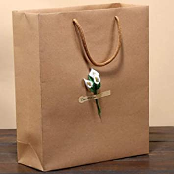 Amazon Com Chitop Kraft Paper Bag Luxury Party Bags With Flower