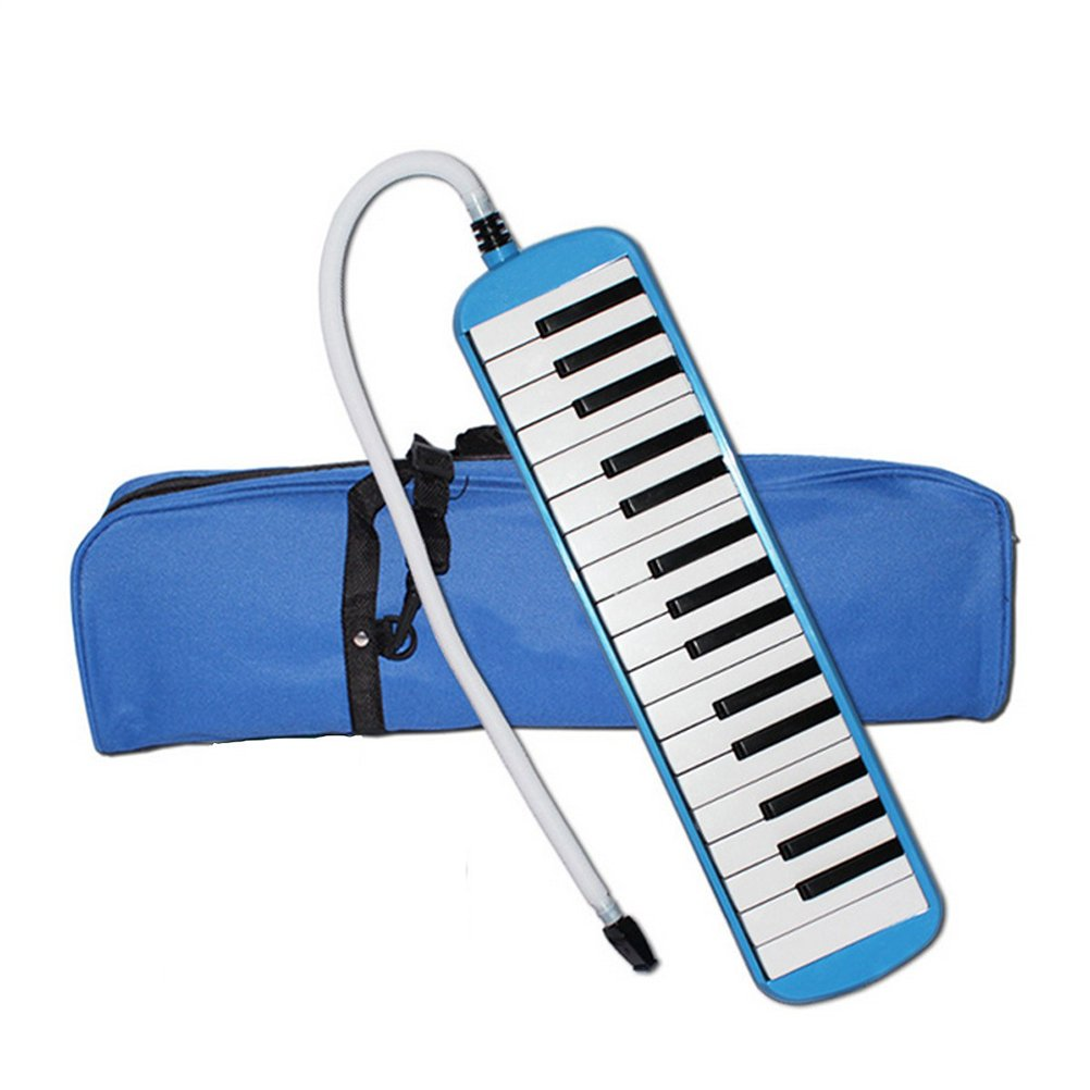 32 Key Melodica ROSENICE Piano Harmonica With Carrying Bag Blue