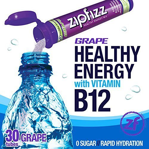 Zipfizz Grape Healthy Energy Drink Mix - Transform Your Water Into a Healthy Energy Drink - 2 Boxes, 30 Tubes Each by Zipfizz