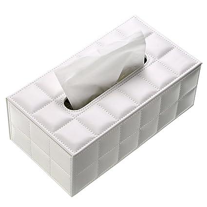 BTSKY Caja de Cuero para Toallas de Papel Estuche Elegante para Pañuelos de Papel con Forma