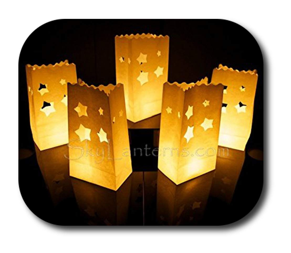 Candle Bags - Candle Lantern Bags (Pack of 10) - Large Star Design Sky Lanterns Ltd.
