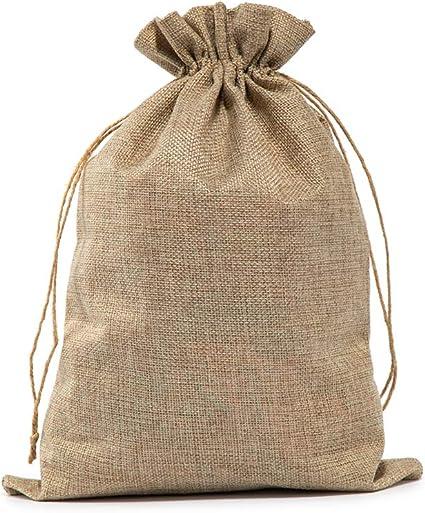 Amazon.com: Bolsas de arpillera con cordón, 10 x 14 pulgadas ...
