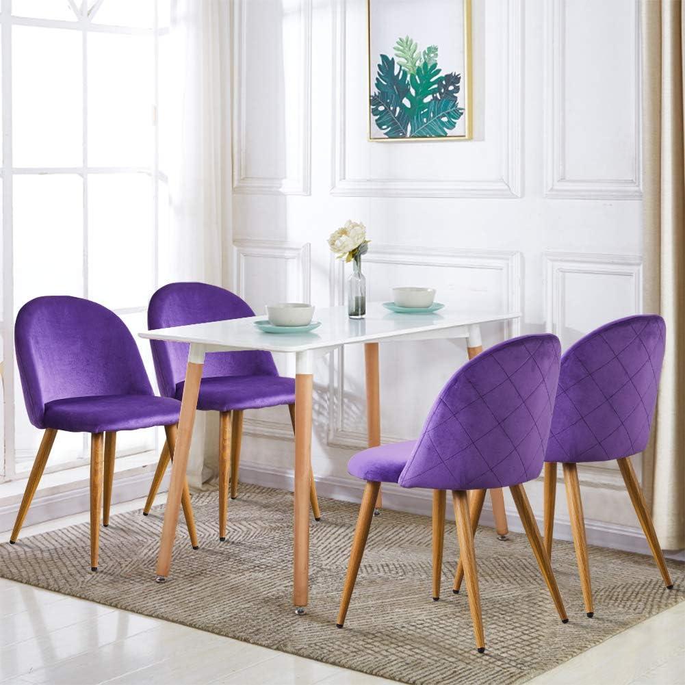 TUKAILAI 2 Pezzi Rosa Sedie Cucina Moderne Sedie Sala da Pranzo Sedie Velluto Soggiorno Sala Attesa Pranzo