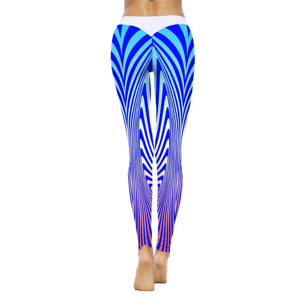 Mallas Deportivas Mujer Pantalones Yoga Rayas Impresión 💗Weant ...