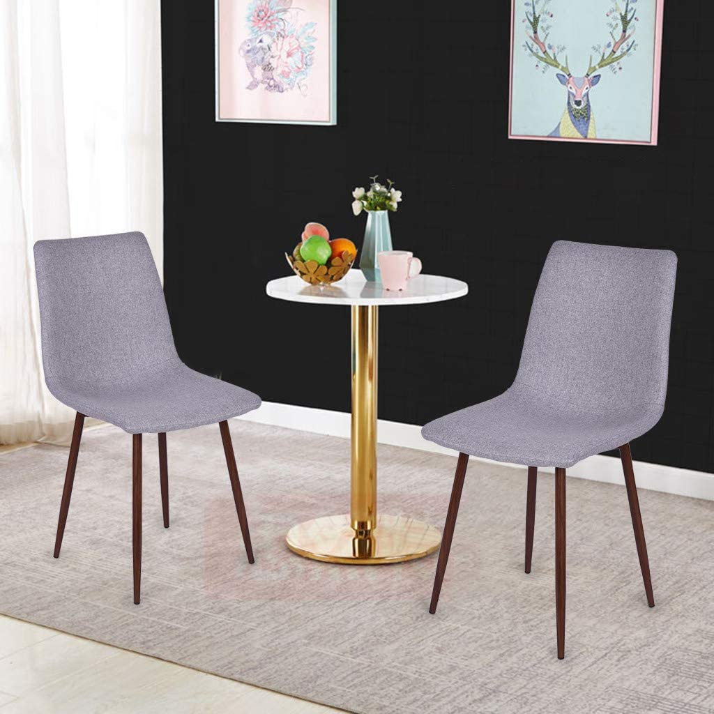 Dining Table /& Kitchen Shell Lounge Linen Chairs Dining Room Mid Century Modern Side Chair with Metal Leg for Kitchen Bucket Seat Stools Set of 4 Novania Dining Chairs Bedroom Living Room