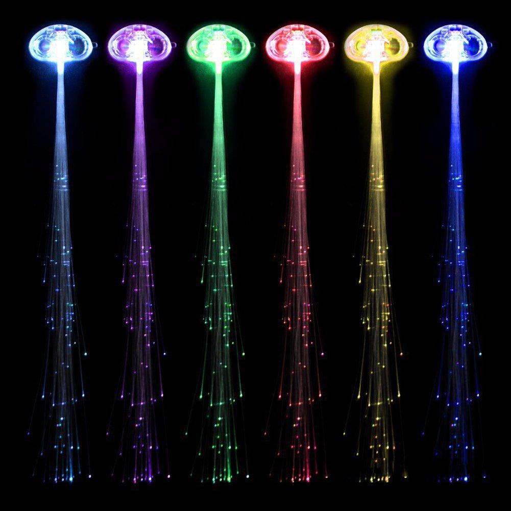 glowbys led fiber optic light up hair. Black Bedroom Furniture Sets. Home Design Ideas
