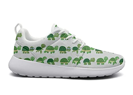 55a5e287eca180 NUMOB Womens Cute green baby turtle tortoise Sneakers Breathable Casual  Sport Shoes