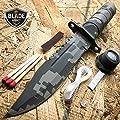 "New 8. 5"" Military Camo Tactical Fishing Hunting iCareYou Knife Survival Kit Blade w/ Sheath"