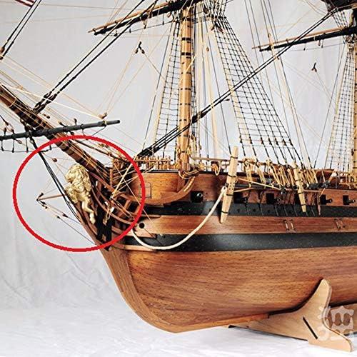 YAOHM Boxwood snijwerk Scheepboog standbeeld pak voor Schaal 1/48 USS Bonhomme Richard Schip model 1 st