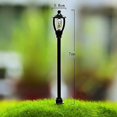 WEISHAZI Street Road Light DIY Miniatura Resina Micro ...
